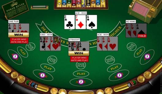 Multihand 3 Card Poker Table