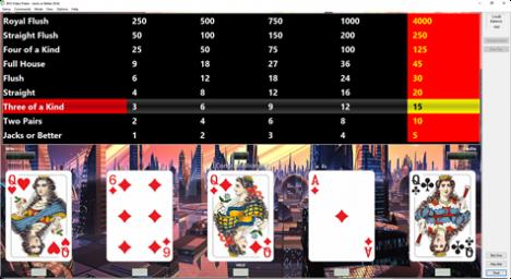 Video Poker Software - BVS Video Poker Software - Perfect play analysis