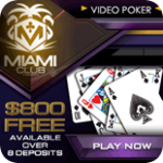 Miami CLub Casino has a wide range of Video Poker Games