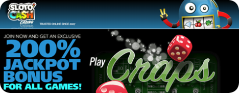 Learn Craps Rules while playing for free at Sloto'Cash Casino
