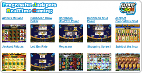 Win a jackpot at Sloto'Cash Casino. Huge progressive jackpots plus random jackpots on the Real Series Video Slots